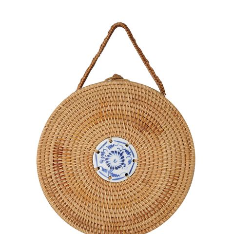 Structured Round Woven Bag