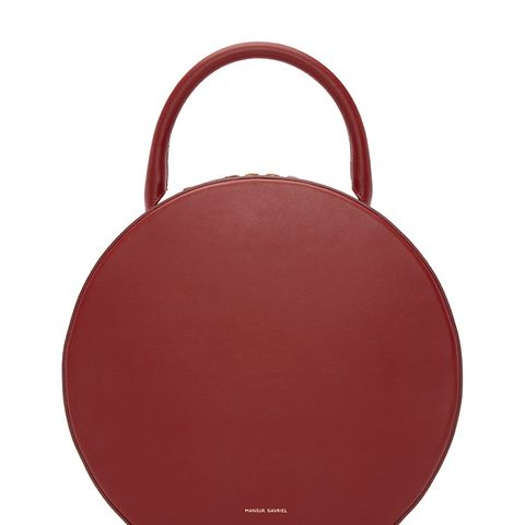 Red Leather Circle Bag