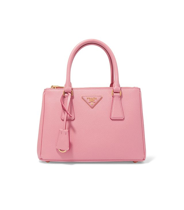 Prada Galleria Mini Textured-Leather Tote