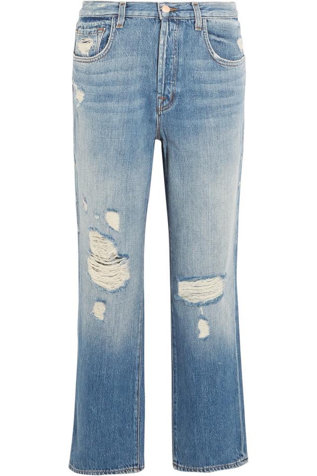 J Brand Ivy Cropped Straight Leg Jeans