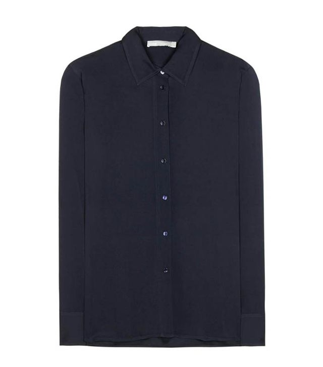 Vince navy silk shirt