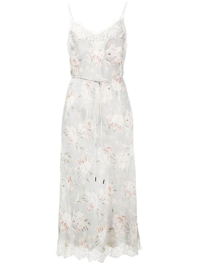 Zimermann Floral Print Slip Dress