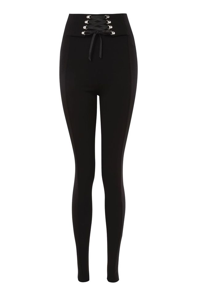 TopShop Tall Corse Lace-Up Leggings
