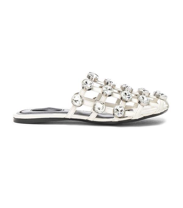 wedding trends - Alexander Wang Jeweled Leather Amelia Slides