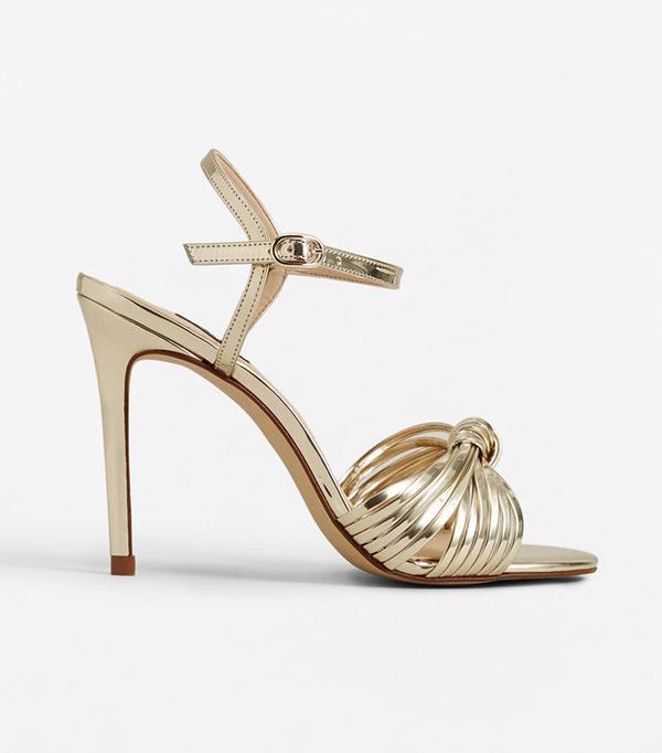 wedding trends - Mango Metallic Sandals
