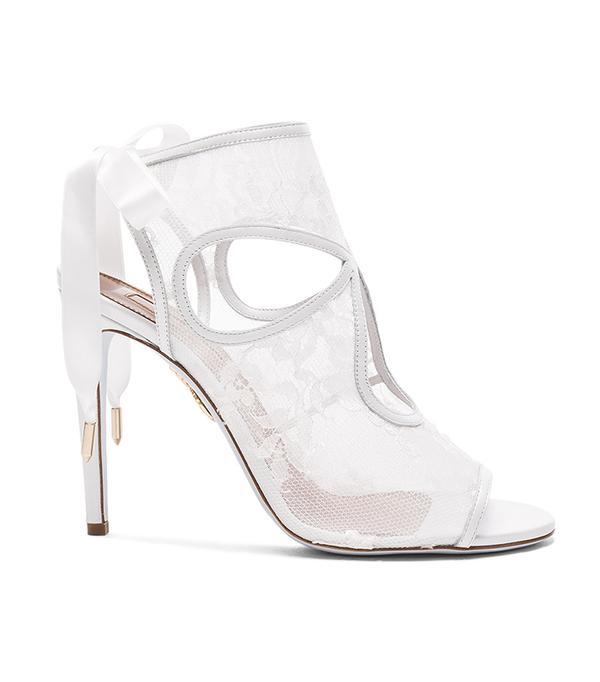 wedding trends - Aquazzura  Lace Sexy Thing Bridal Heels