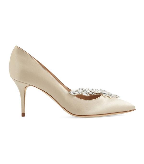 wedding trends - Manolo Blahnik Nadira Crystal Embellished Pointy Toe Pump
