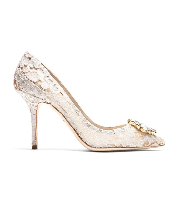wedding trends - Dolce & Gabbana Belluci Lace Pumps