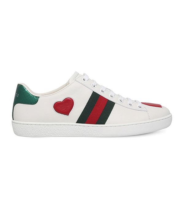 what to wear to Disneyland - Gucci New Ace Heart Sneakers