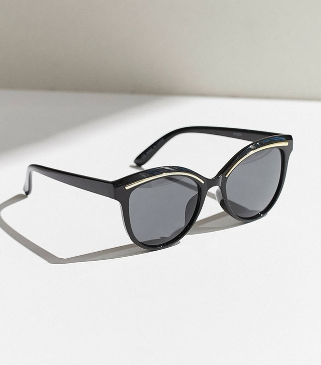 cat eye sunglasses - Urban Outfitters Metal Temple Cat-Eye Sunglasses