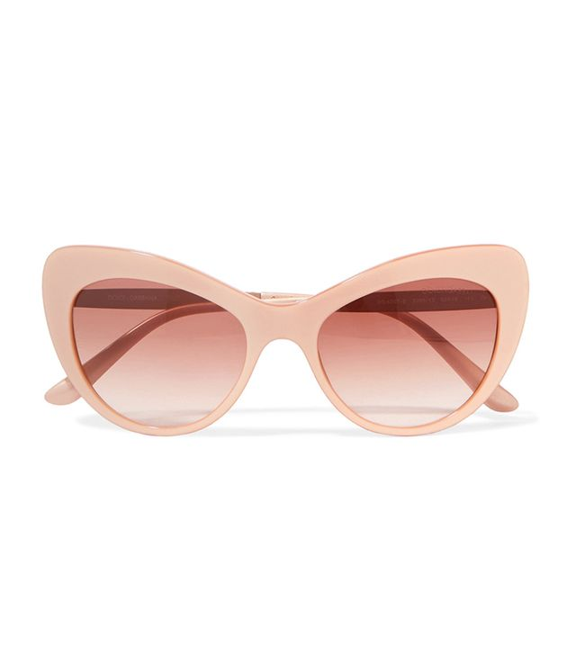 best cat eye sunglasses -  Dolce & Gabbana Crystal-Embellished Sunglasses