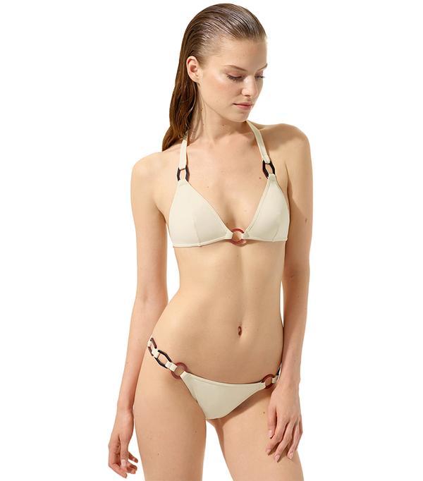 French style - Eres Triangle Bikini Top and Thin Bikini Bottoms
