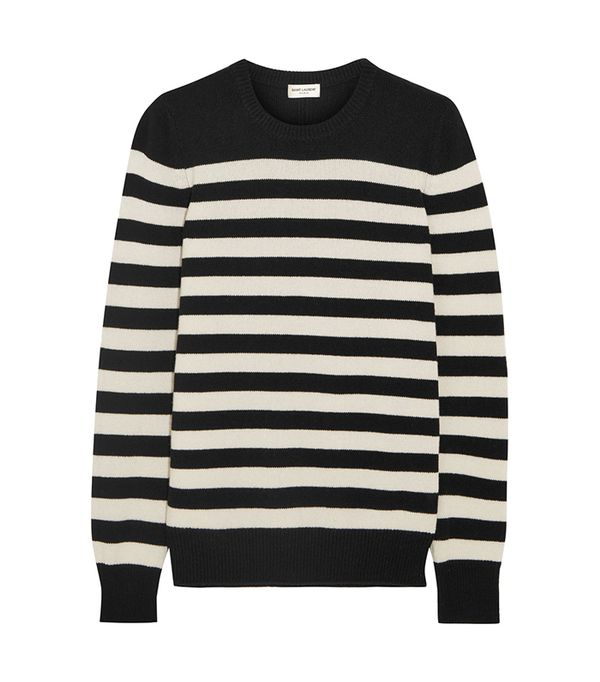 San Francisco fashion -  Saint Laurent Striped Cashmere Sweater