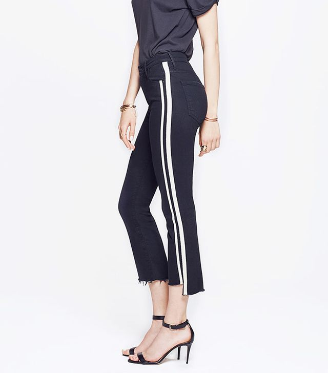Mother Insider Crop Step Fray Jeans in Guilty Racer