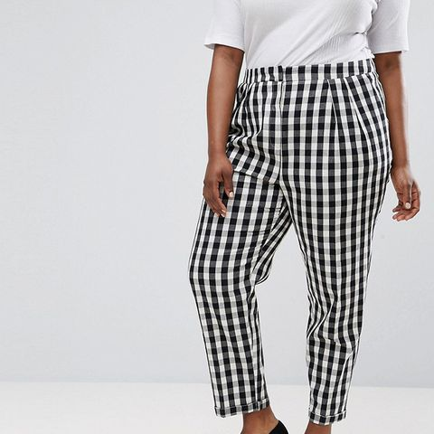 Gingham Tapered Peg Pants