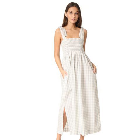 Palmer Check Smocked Maxi Dress