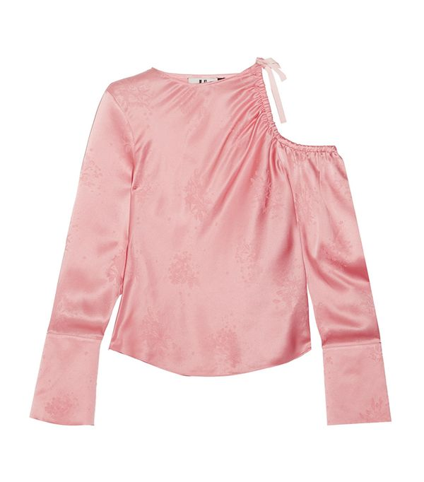 best pink blouse - topshop unique