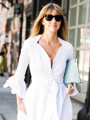 You Should Be Wearing This $64 Item With Every White Dress, Says a Stylist