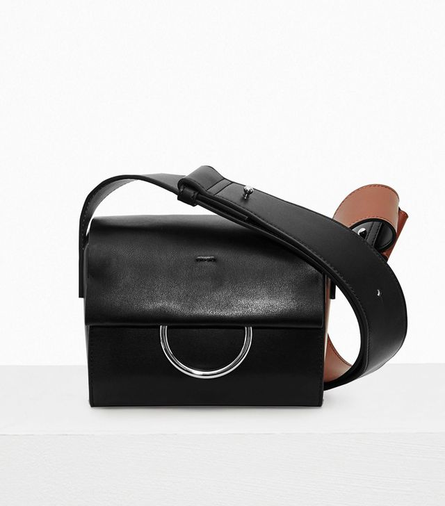 French Connection Oversized Buckle Square Shoulder Bag