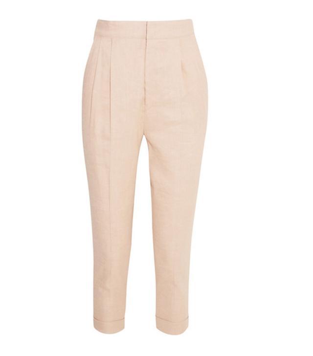 Isabel Marant Neyo Linen-Blend Tapered Pants