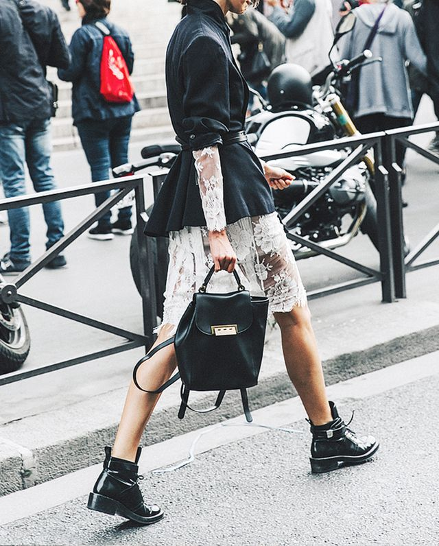 lace and combat boots street style