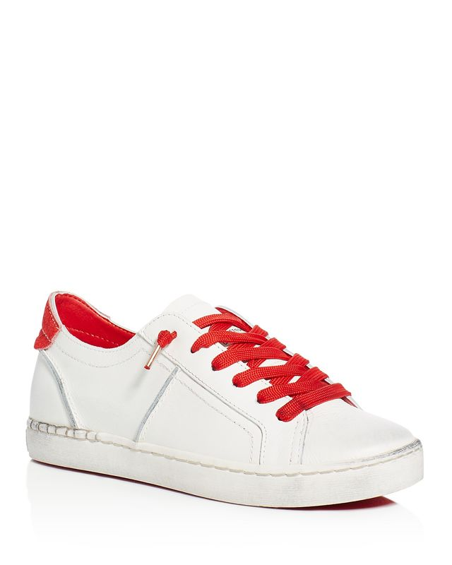 Dolce Vita Zalen Calf Hair Tab Lace Up Sneakers