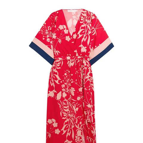 Raquel Floral-Print Crepe de Chine Midi Dress