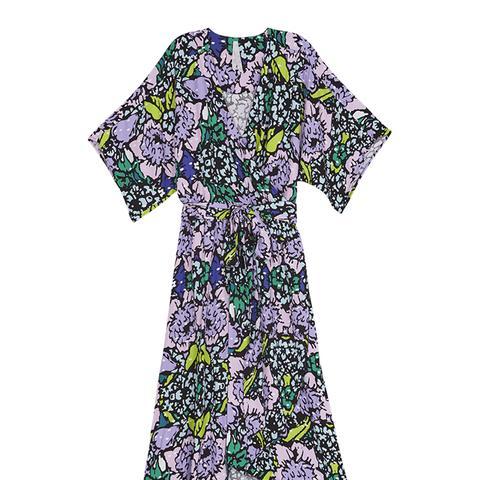 Floral Bouquet Wrap Dress