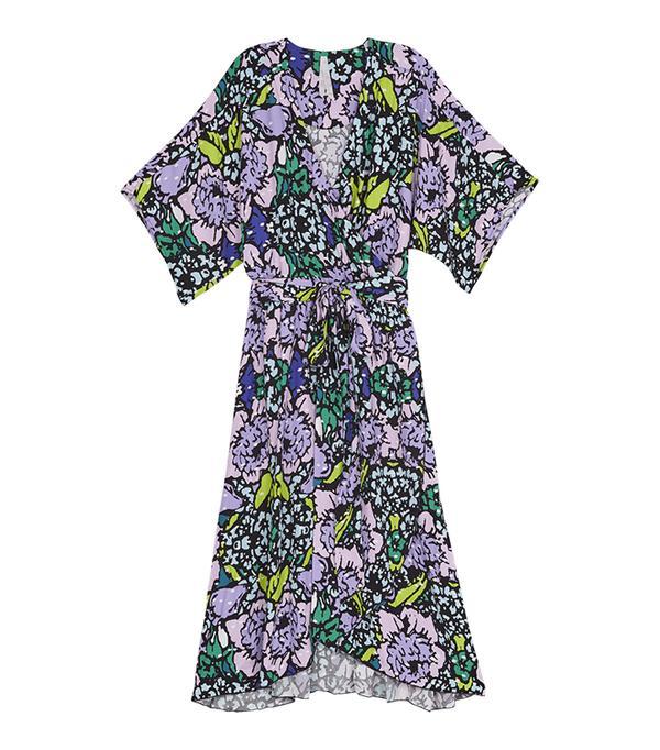 Melissa McCarthy Seven7 Floral Bouquet Wrap Dress