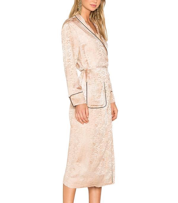 Raquel Allegra Robe Dress in Desert Wash