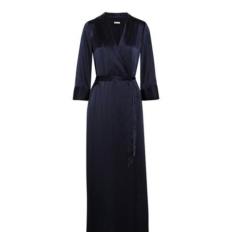 Silk Wrap Maxi Dress