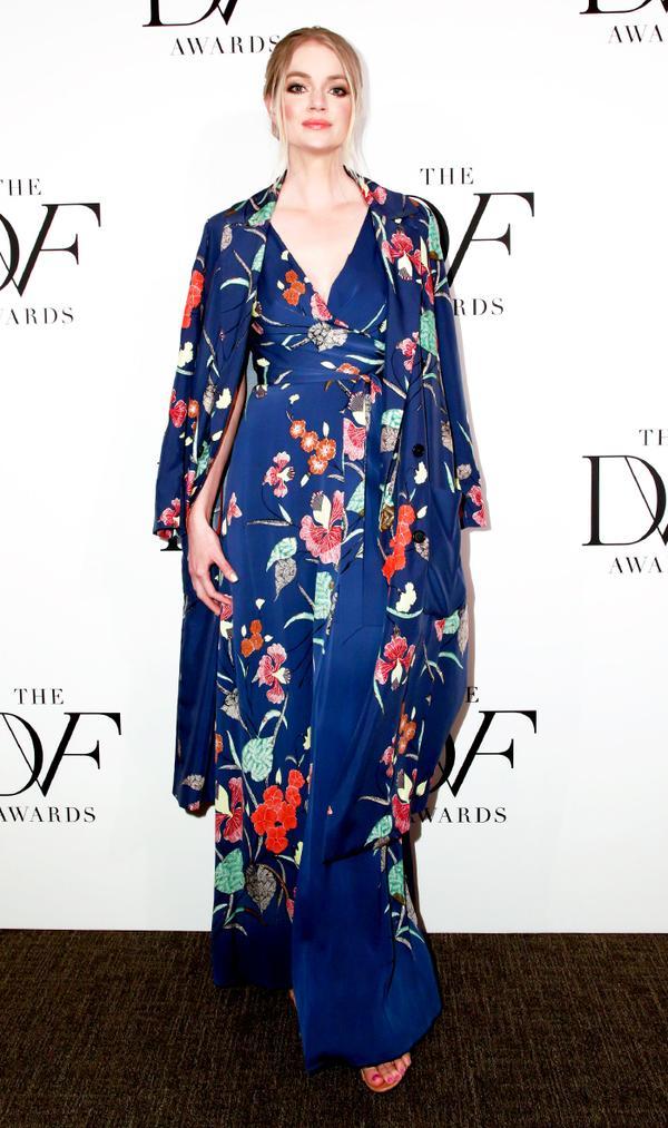 lindsay ellingson dvf awards dress