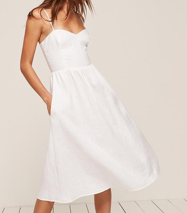 best reformation white dress