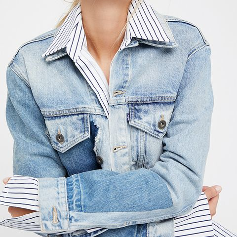 Boyfriend Patched Trucker Jacket