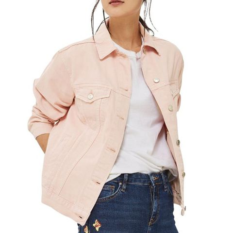 Ripped Elbow Denim Jacket