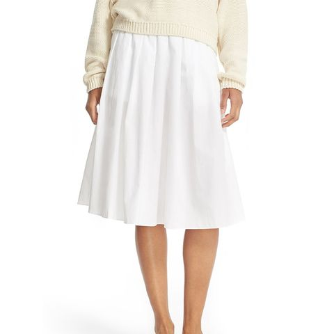 Multi Pleated Cotton Skirt