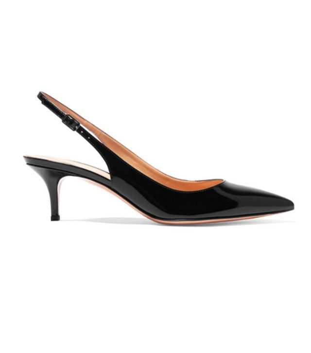 Gianvito Rossi Patent-Leather Slingback Pumps