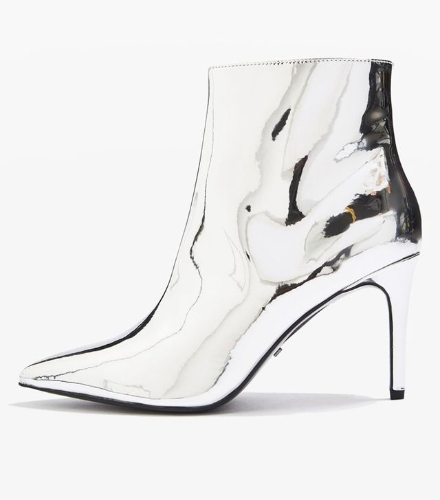 Topshop silver mirrored boots
