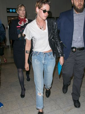 Kendall and K-Stew's Cannes Airport Outfits Couldn't Be More Different