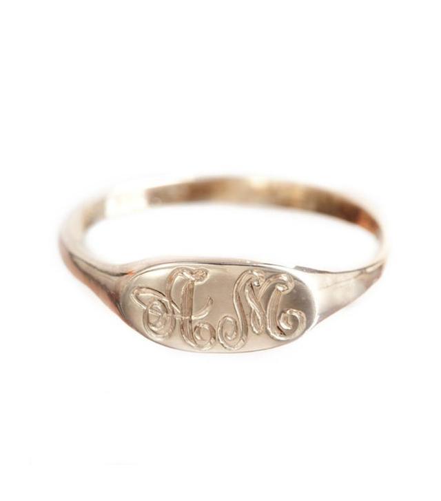 Ariel Gordon Petite Signet Ring in Sterling Silver