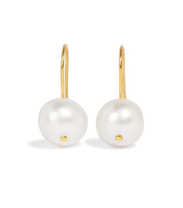 Aurélie Bidermann Cheyne Gold-Plated Freshwater Pearl Earrings