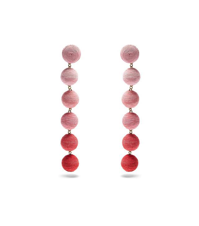 Rebecca de Ravenel Corded Silk Drop Earrings
