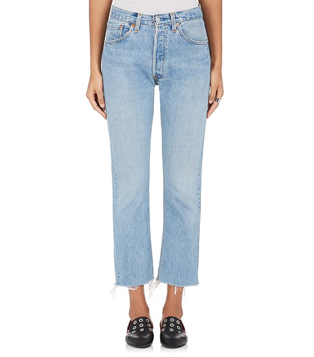 Re/Done Levi's High Rise Crop Flare Jeans