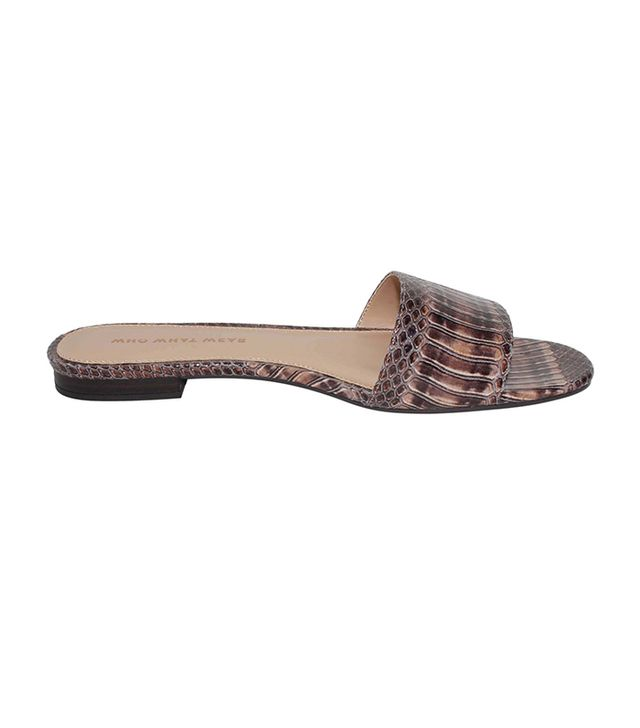 Who What Wear Ava Exotic Print Slide Sandals