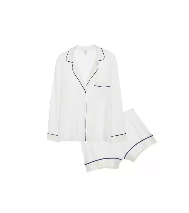 Eberjey Gisele Long Sleeve and Short PJ Set