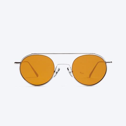 Winston Sunglasses in Silver/Orange