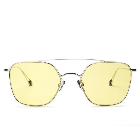 Concorde White Gold with Yellow Lenses Limited Edition Sunglasses