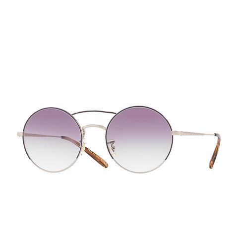 Nickol 53mm Round Sunglasses in Purple