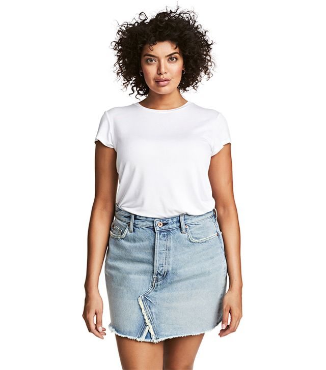 H&M+ Denim Skirt
