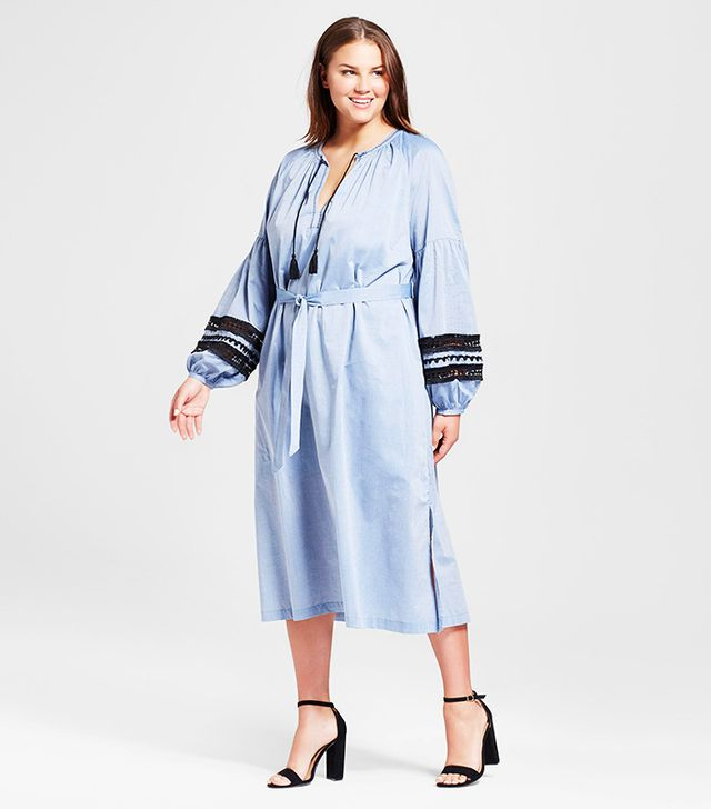 Who What Wear Plus Size Beach Caftan